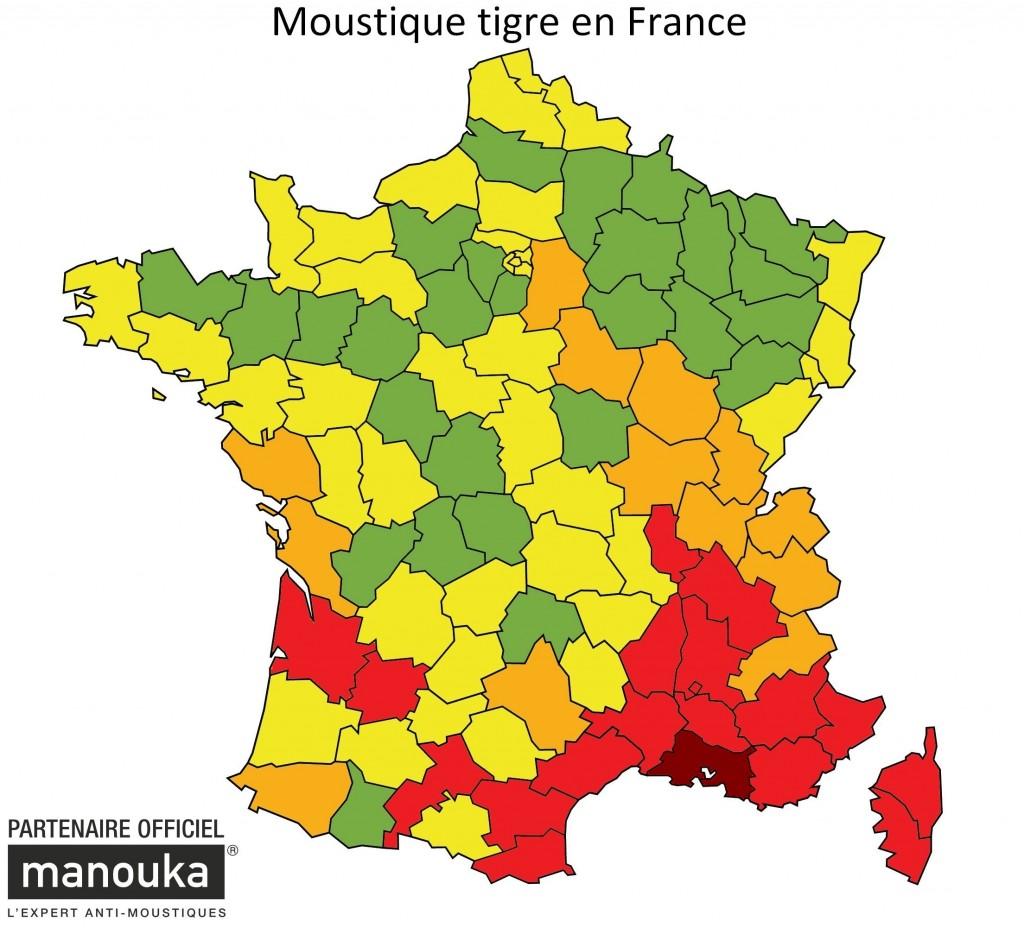 carte des moustiques en france Carte Aedes Albopictus   Vigilance   Moustiques