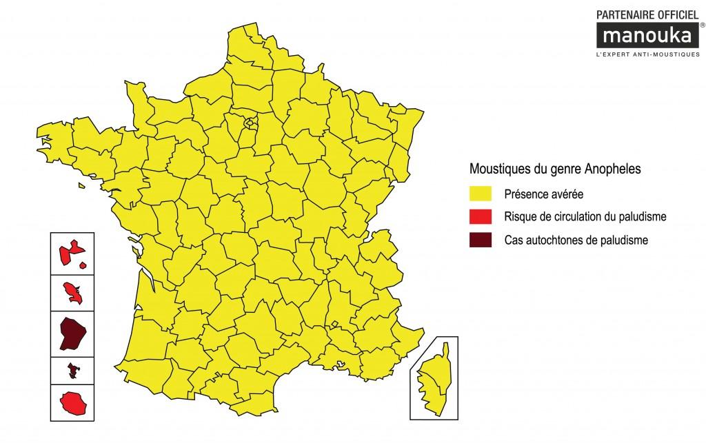 Carte France et DOm Anophele_Paludisme mars 2013 - vigilance-moustiques.com