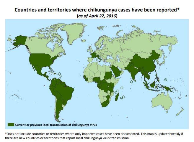 carte chikungunya 2016 cdc
