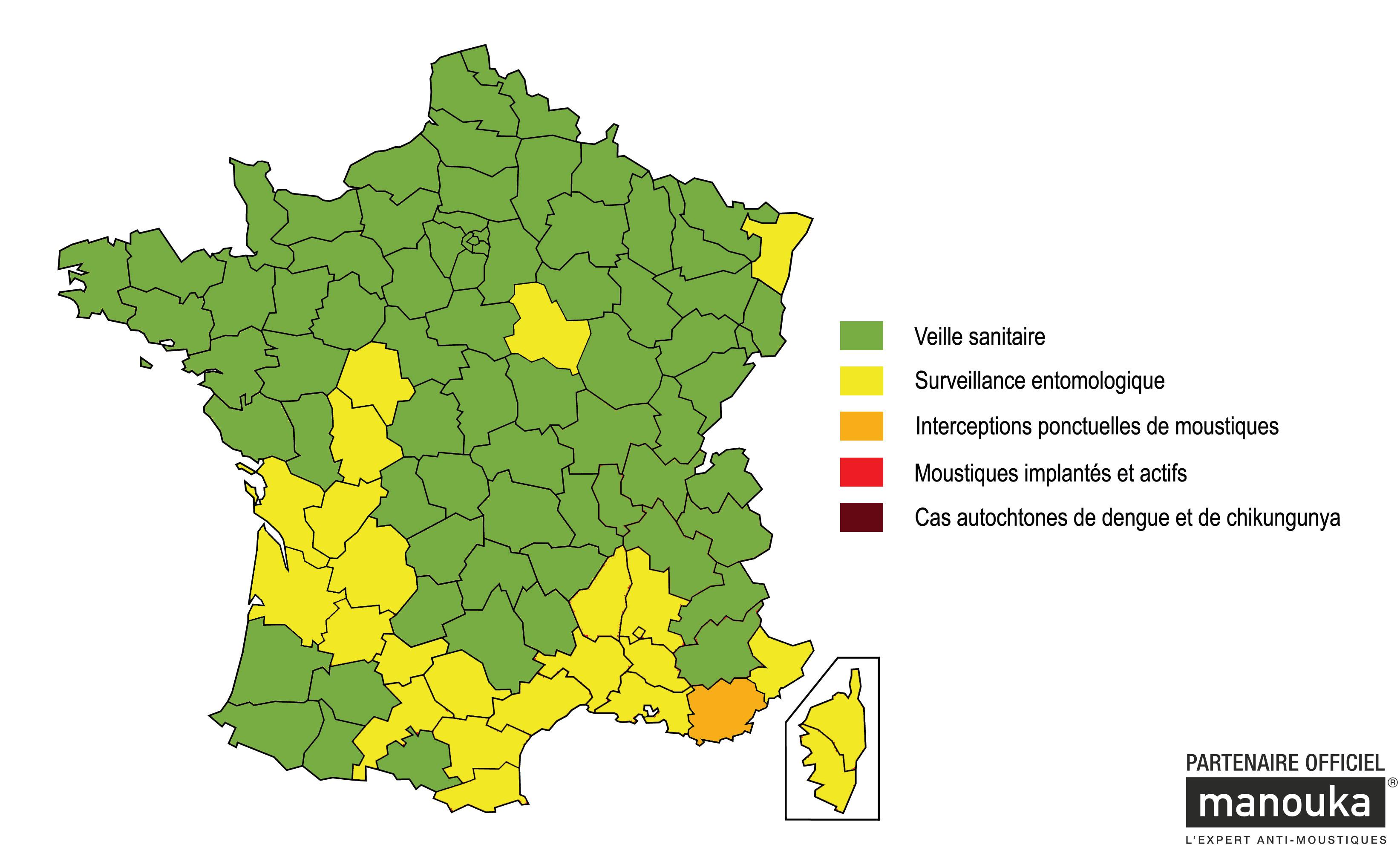 carte des moustiques en france Carte 28 avril moustiques en FRance   Vigilance   Moustiques