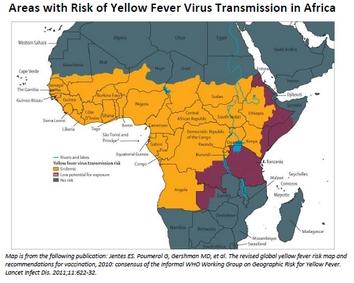 Cartes de la fièvre jaune