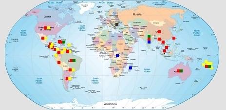 Carte des épidémies
