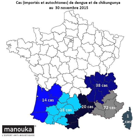 Carte cas de dengue et de chik 30 novembre 2015 copie
