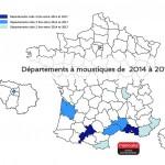 départements à moustiques 2014-2017