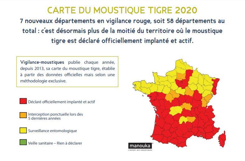 moustique tigre carte 2020 Carte du Moustique Tigre 2020   Vigilance   Moustiques