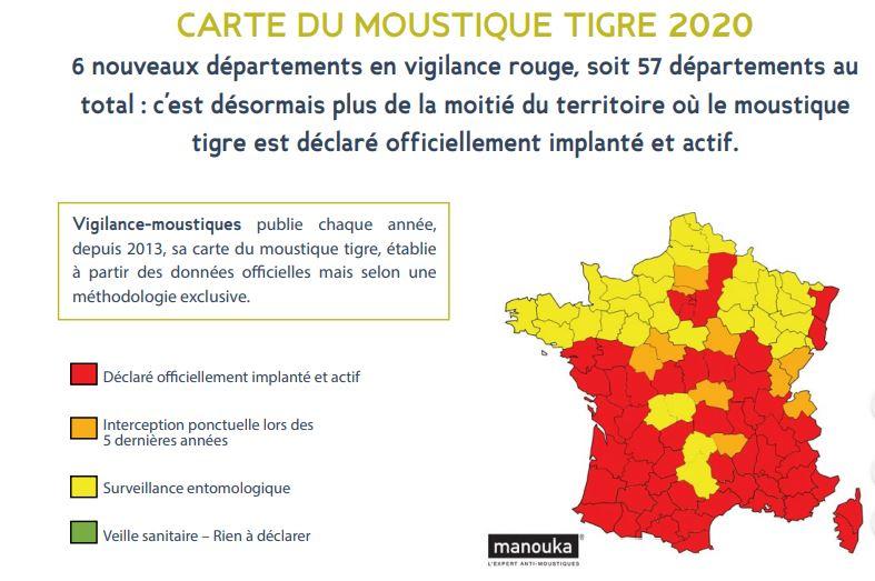moustique tigre carte 2020 Loire Atlantique. Que faut il craindre de l'arrivée du moustique